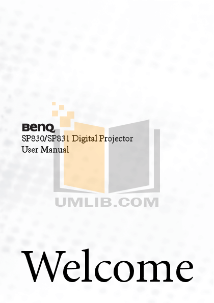 pdf for Benq Projector SP830 manual