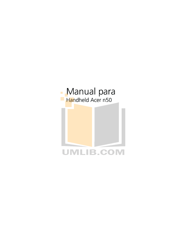 pdf for Acer PDA n50 manual