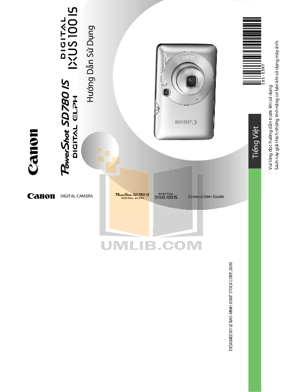 pdf for Canon Digital Camera IXUS 100 IS manual