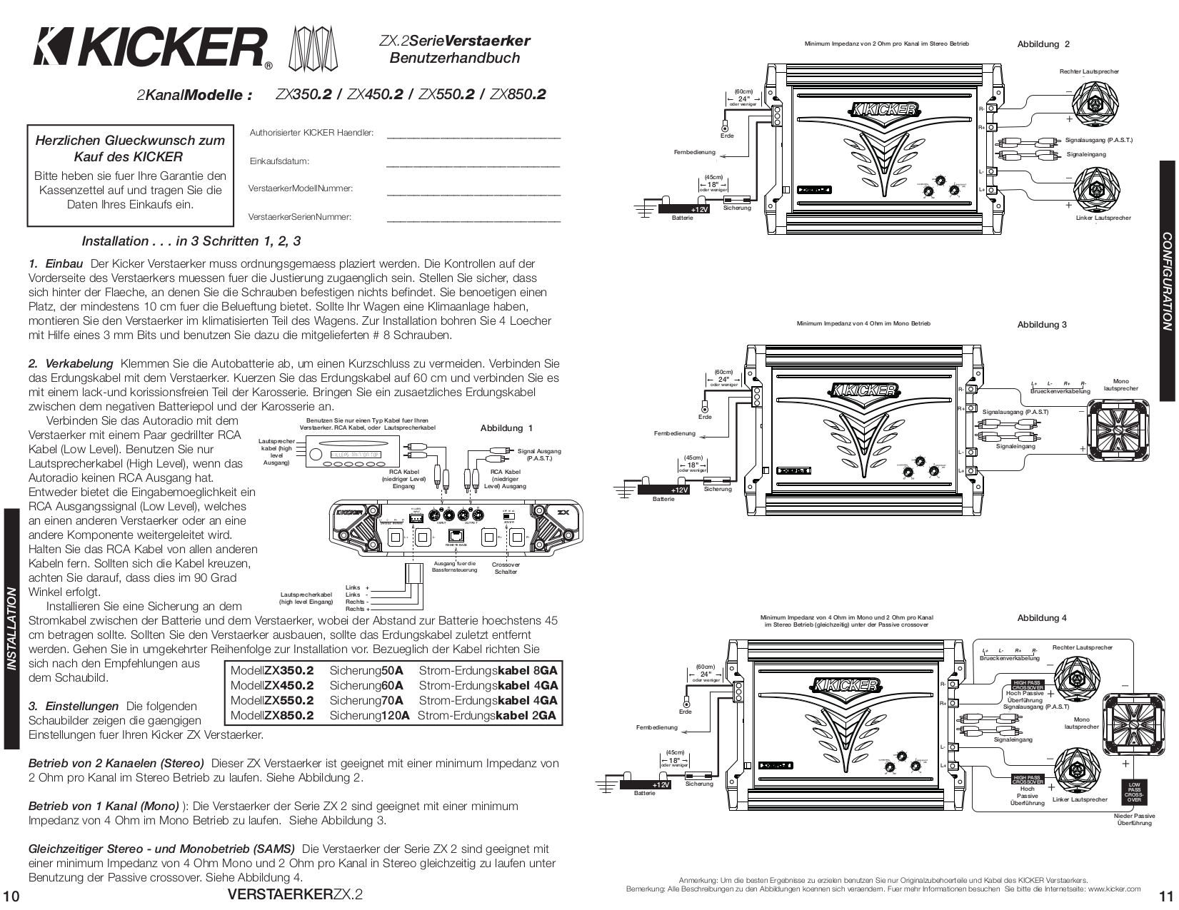 download free pdf for kicker zx850 2 car amplifier manual