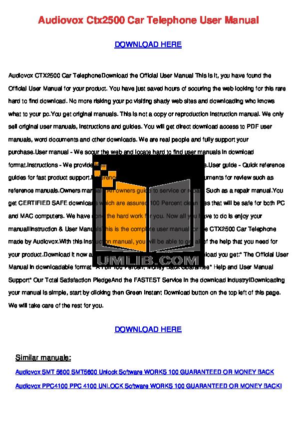 pdf for Audiovox TV FPE2305 manual