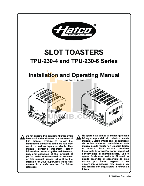 pdf for Hatco Other FRC-II manual