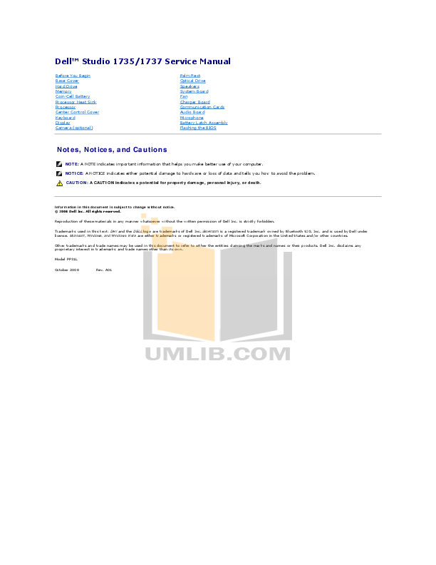 download free pdf for dell studio 1737 laptop manual rh umlib com Dell Studio 1749 Dell Studio 1749