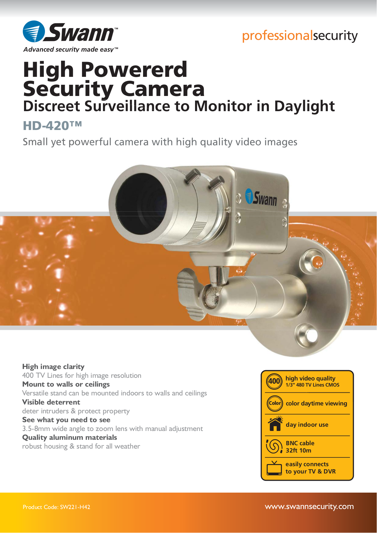 swann security camera system manual
