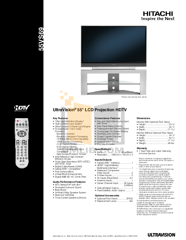 download free pdf for hitachi 51f510 tv manual rh umlib com 51F510 Problems hitachi tv 51f510 manual