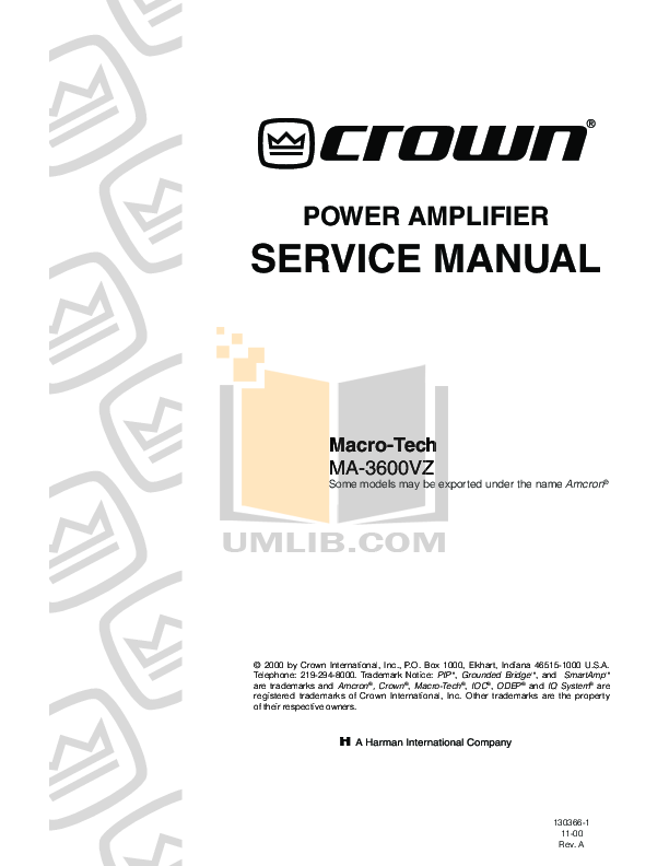 pdf for Crown Other PIP-102 Input Processors manual