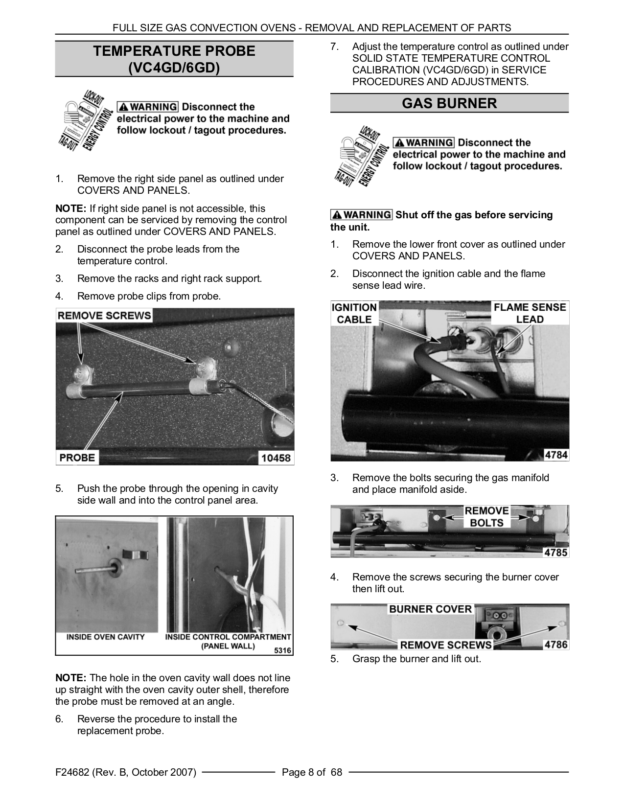 Vulcan Oven VC4GS pdf page preview