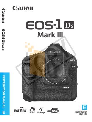 pdf for Canon Digital Camera EOS 1D Mark III manual