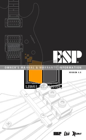 pdf for ESP Guitar VIPER-50 manual