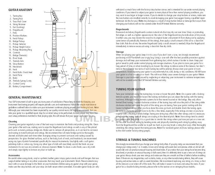 ESP Guitar VIPER-50 pdf page preview