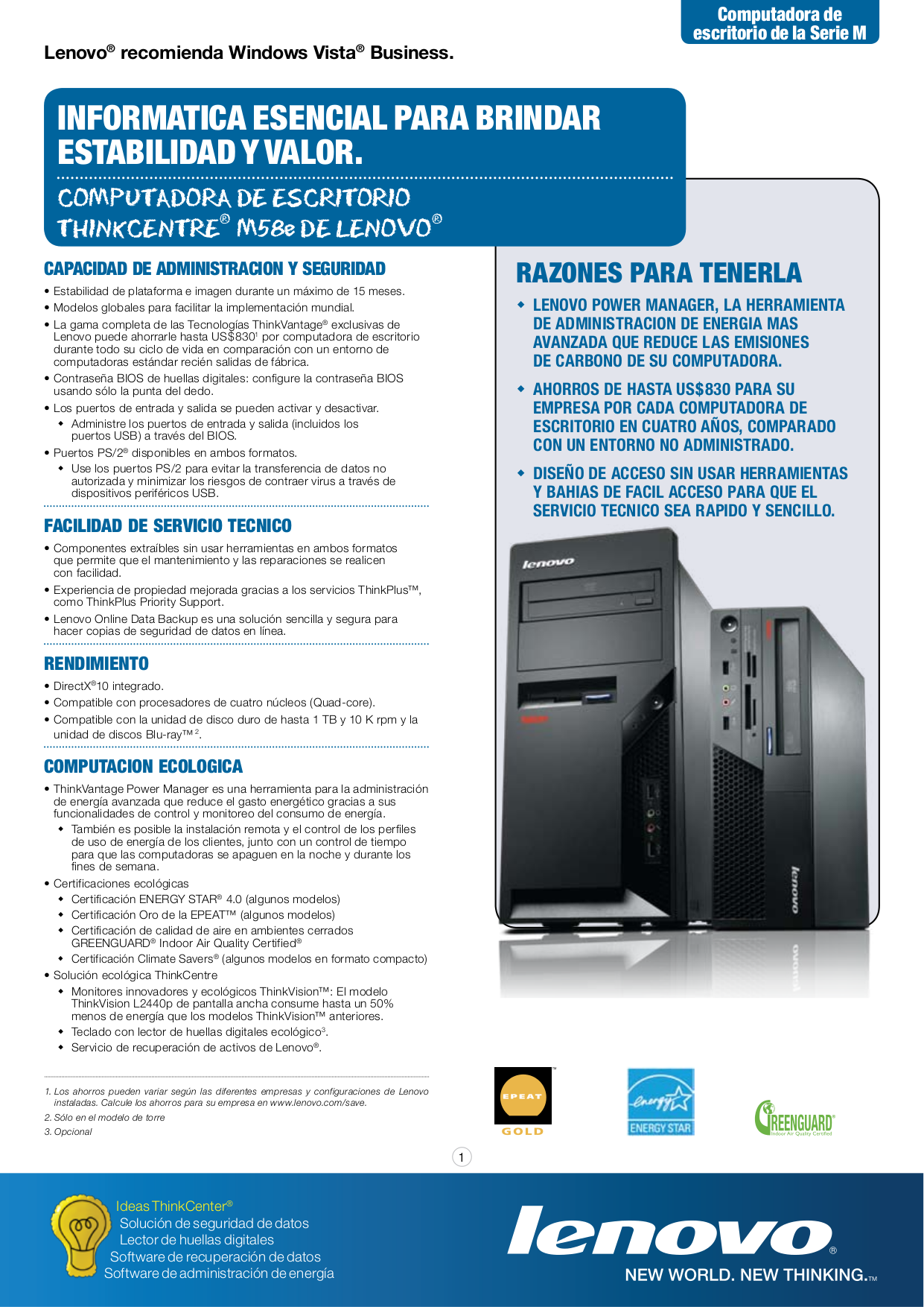 pdf for Lenovo Desktop ThinkCentre M58e 7491 manual