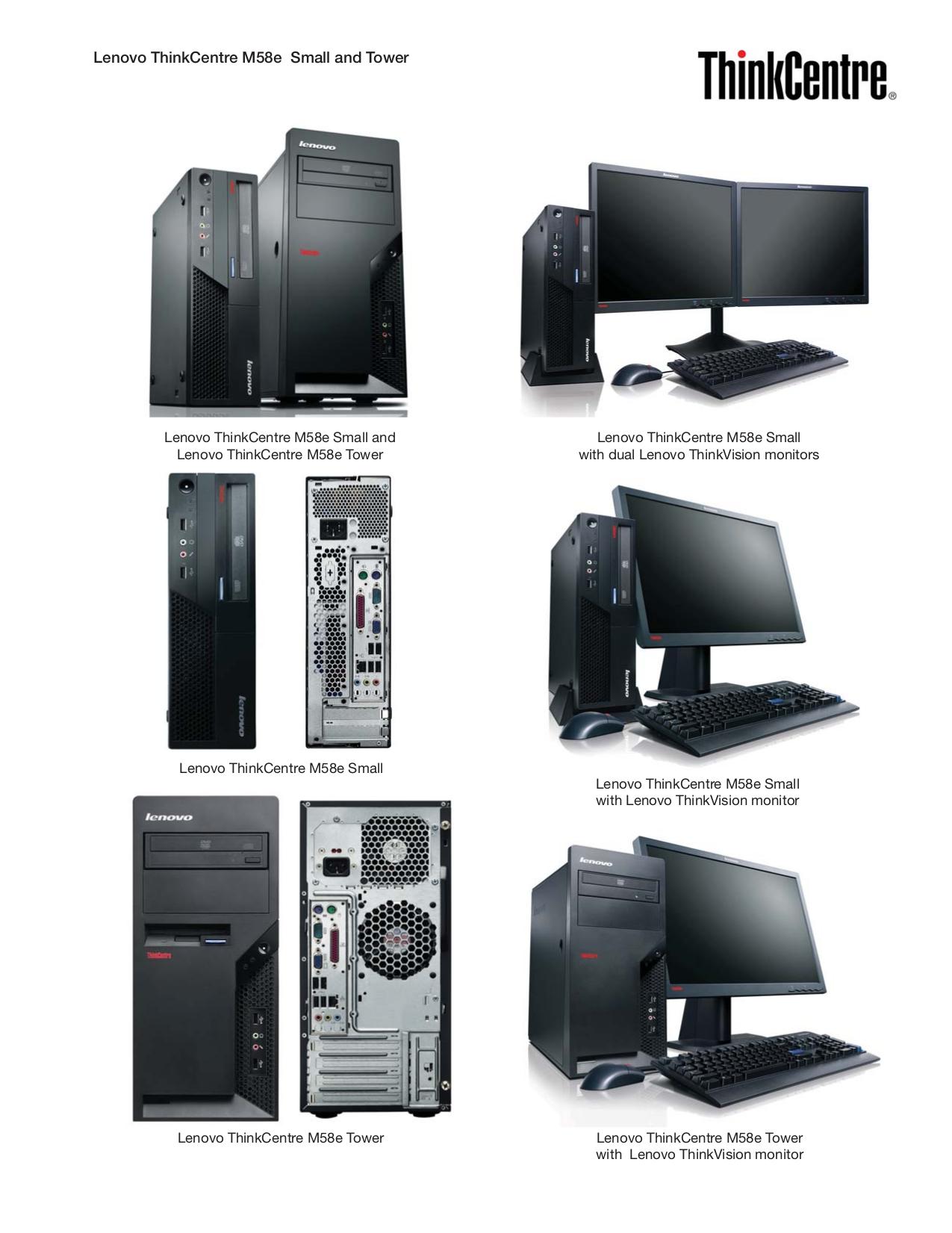 Lenovo Desktop ThinkCentre M58e 7491 pdf page preview