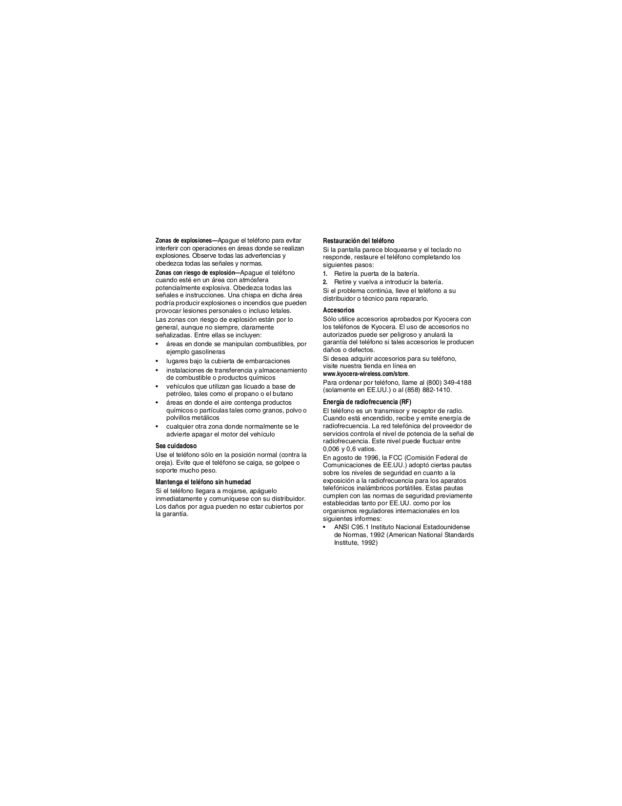 Kyocera Cell Phone Koi pdf page preview