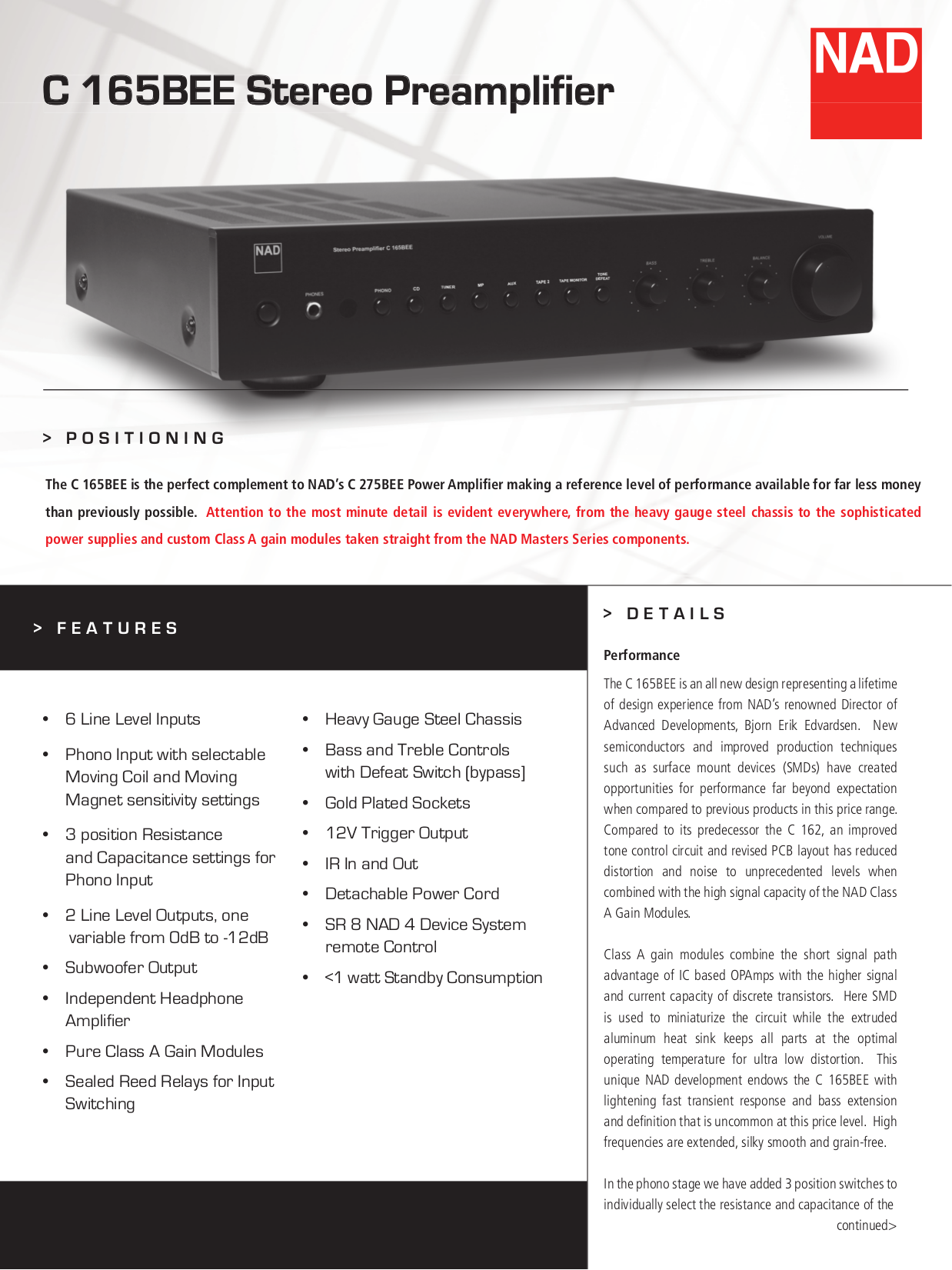 Download free pdf for NAD C162 Audio-PreAmplifier Other manual