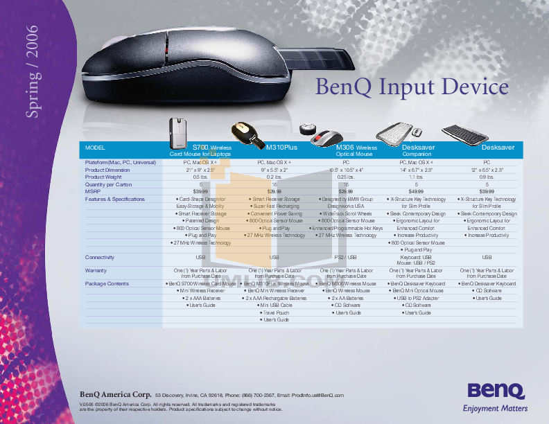 pdf for Benq Keyboard X805 manual