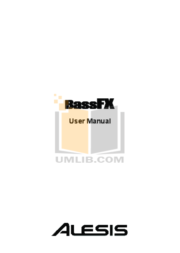 pdf for Alesis Amp BassFX manual