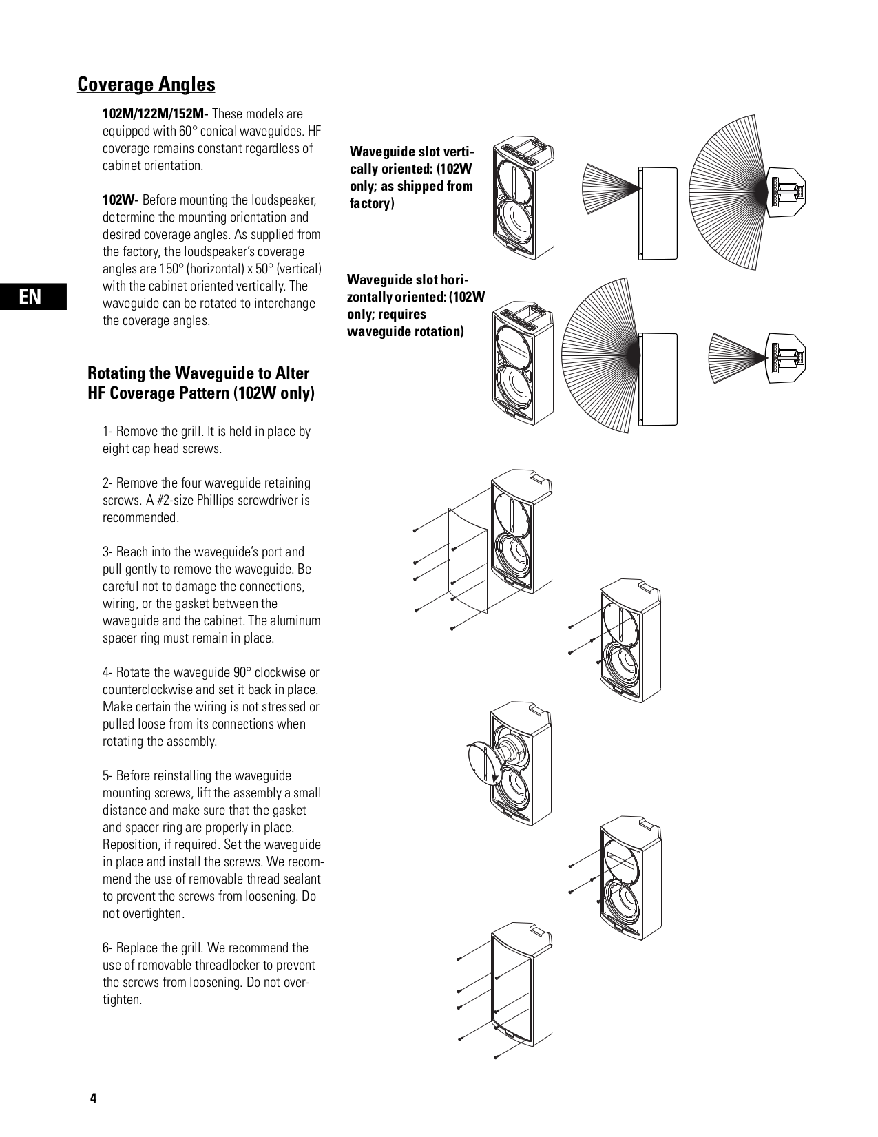 PDF manual for QSC Speaker ISIS W-122M