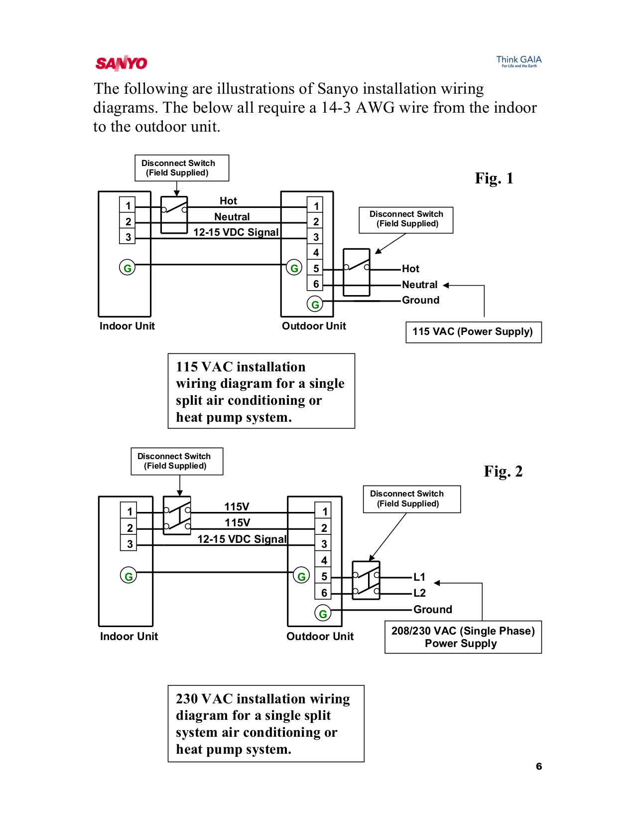 Pdf Manual For Sanyo Air Conditioner 18ks72 Switch Wiring Diagram Fld Page Preview