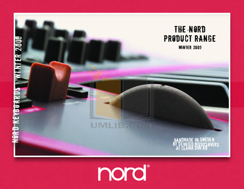 pdf for Clavia Music Keyboard Nord Lead 3 manual