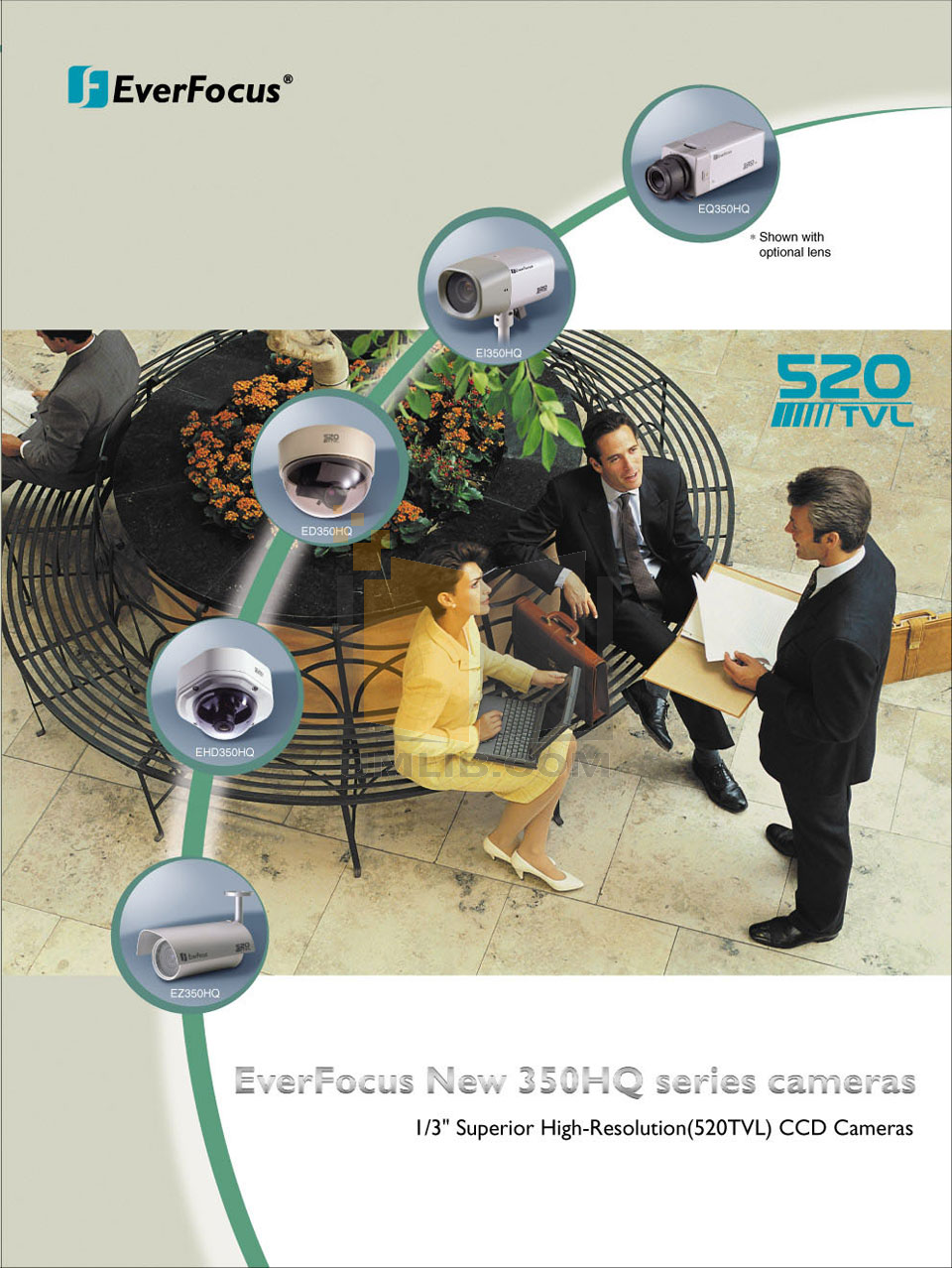 pdf for EverFocus Security Camera EZ350 manual