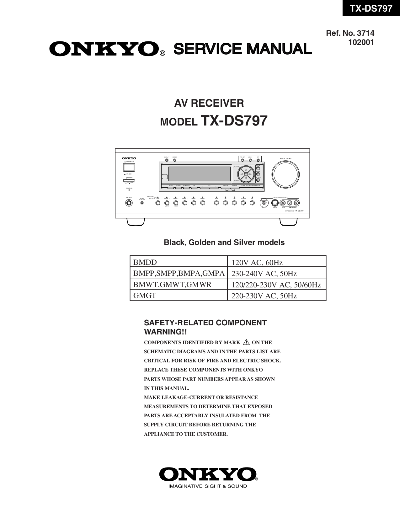Tx-sr501 service manual.