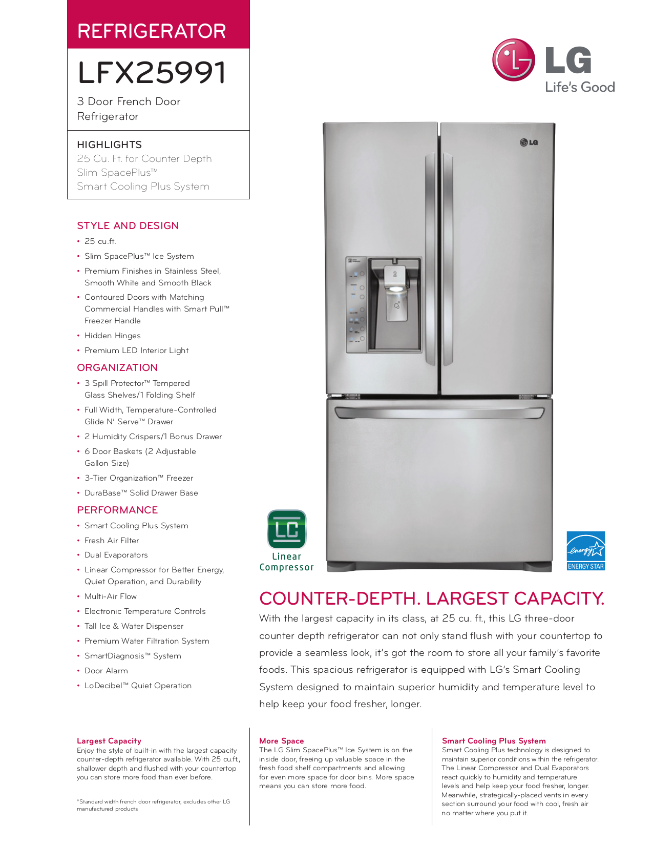 pdf for LG Refrigerator LFX25991ST manual