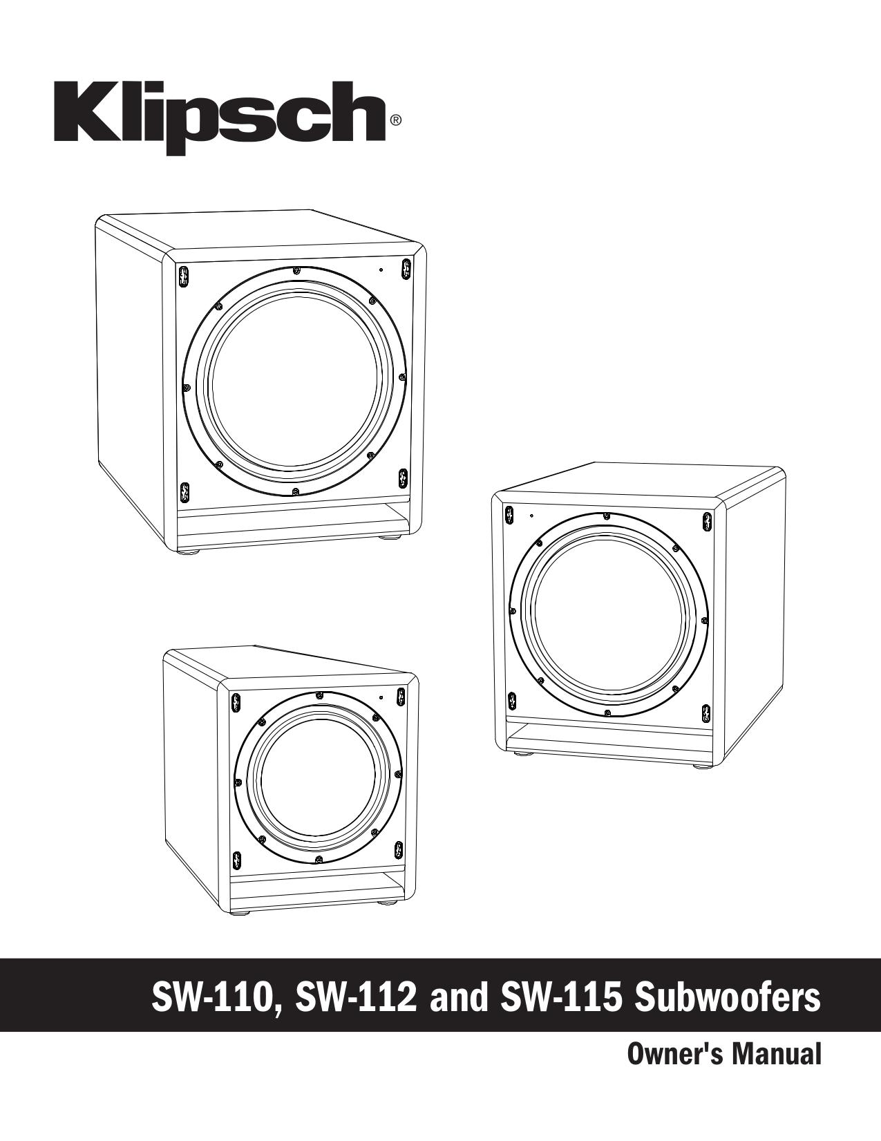 pdf for Yamaha Subwoofer SW115V manual