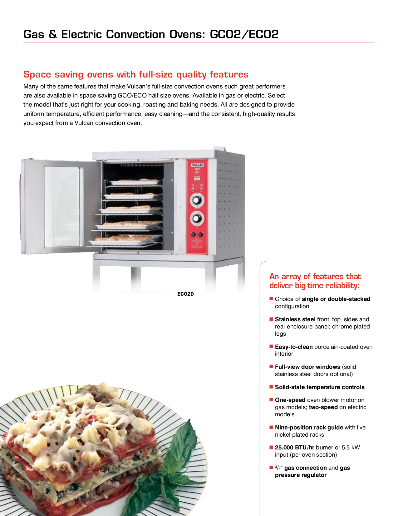 Vulcan Oven GCO22D pdf page preview