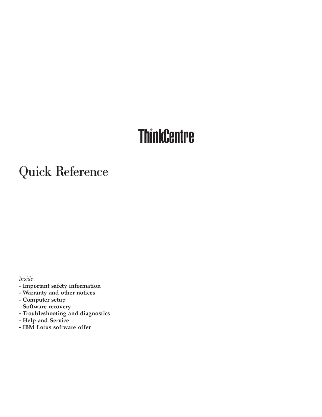 pdf for Lenovo Desktop ThinkCentre E50 8292 manual
