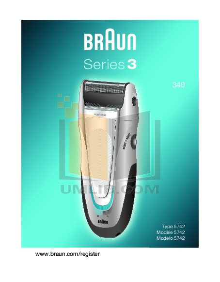 pdf for Braun Other Series 3 340 Shavers manual