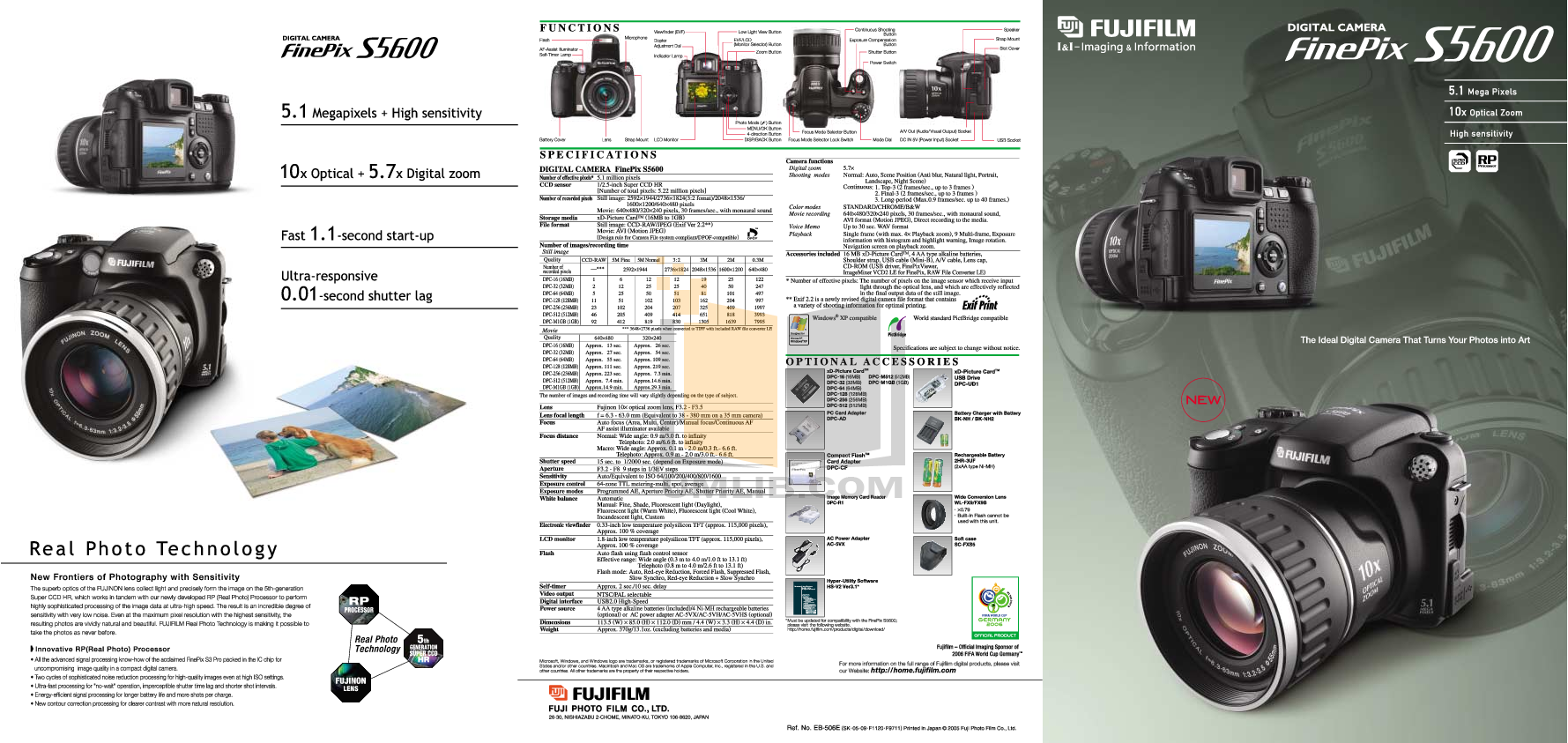 pdf for FujiFilm Digital Camera Finepix S5600 manual
