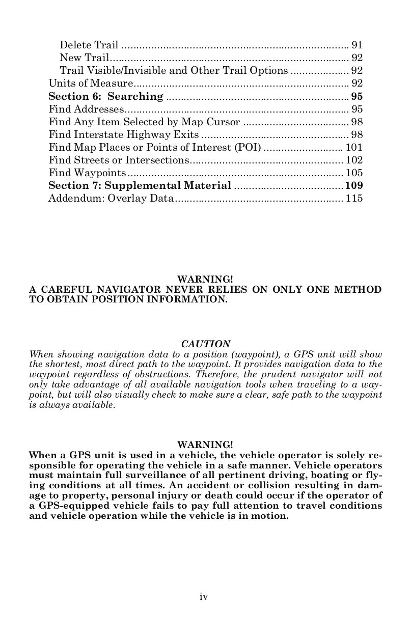 Lowrance GPS GlobalMap 5000C pdf page preview