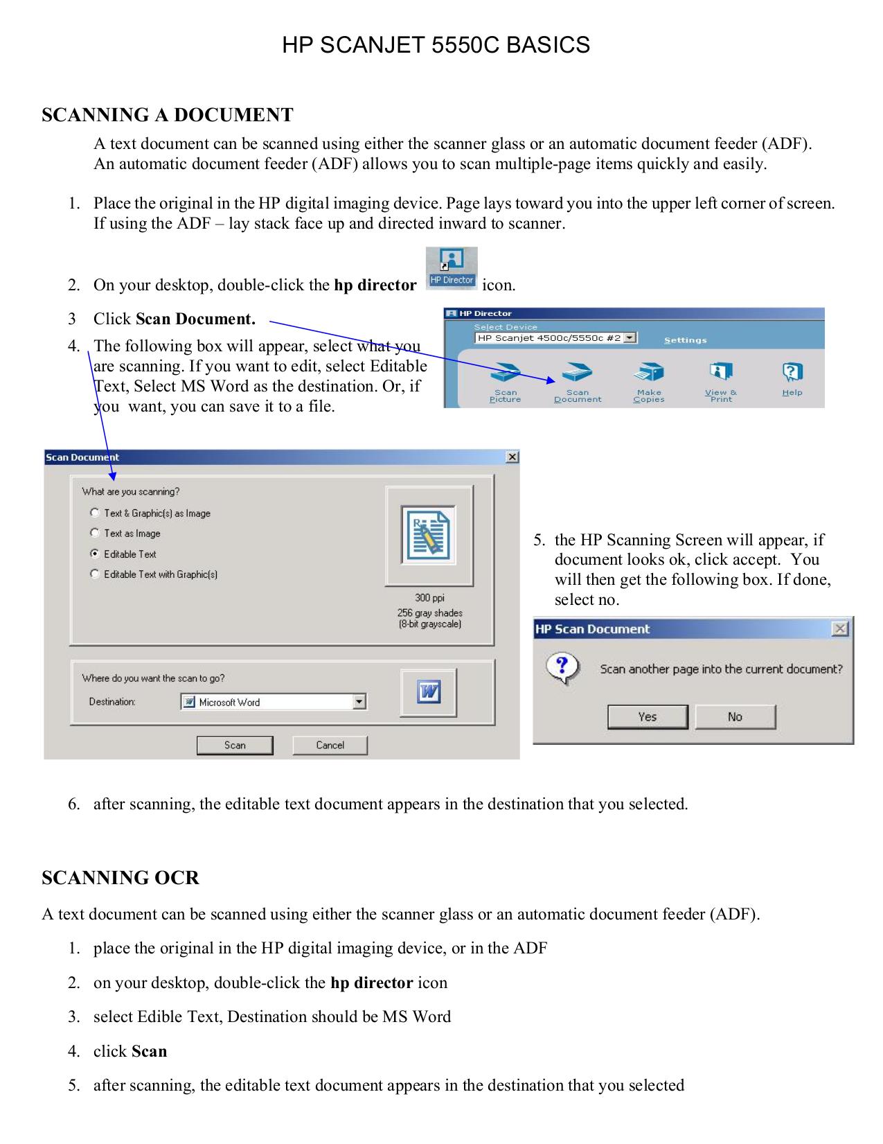 Download free pdf for HP Scanjet 5550c Scanner manual