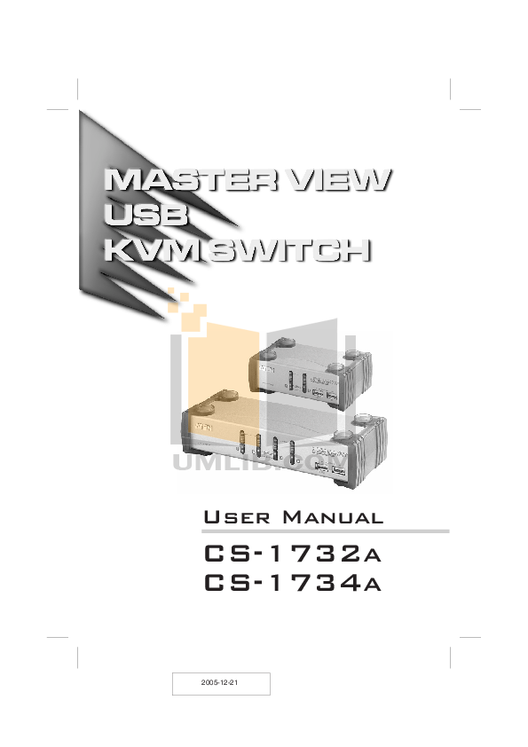 pdf for ATEN Switch MasterView CS-1732 manual