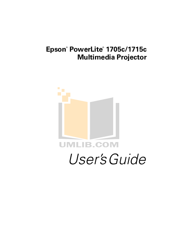 pdf for Epson Projector EMP-83 manual