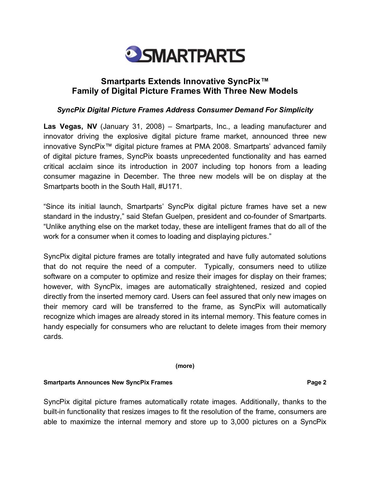 Download free pdf for Smartparts Syncpix SPX12 Digital Photo Frame ...