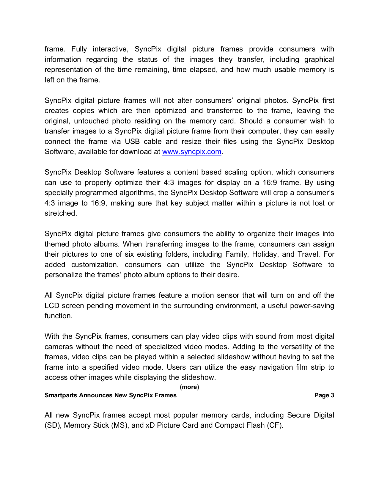 PDF manual for Smartparts Digital Photo Frame Syncpix SPX12