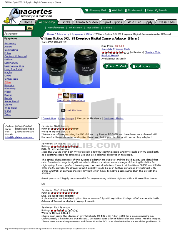 pdf for Celestron Other Ultima 80ED Spotting Scope manual