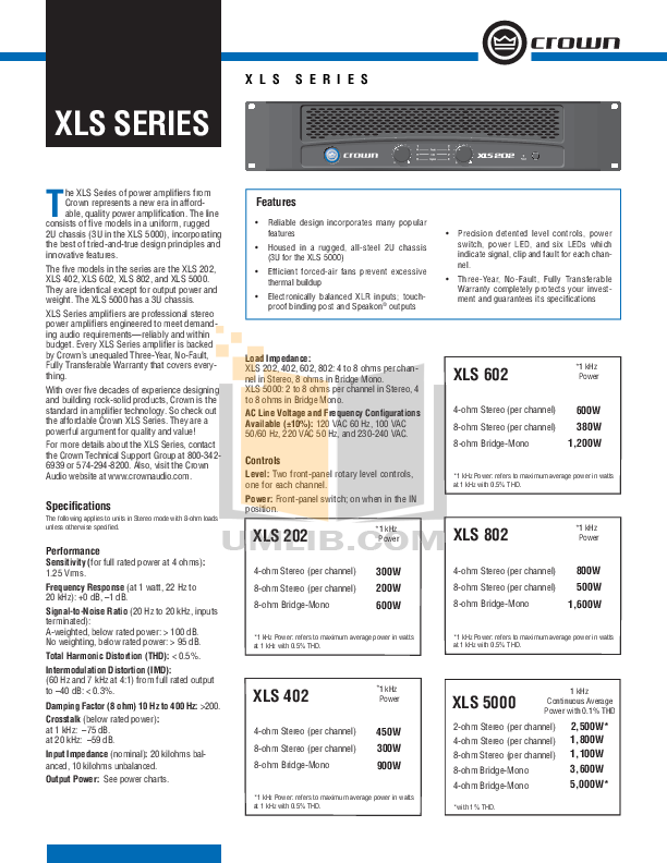 download free pdf for crown xls 802 amp manual rh umlib com User Guide Cover Kindle Fire User Guide