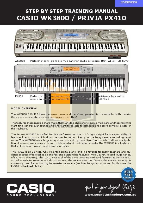 инструкция Casio Wk 3800 - фото 5