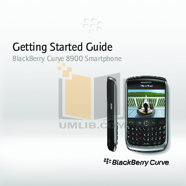 pdf for Blackberry Cell Phone Curve 8900 manual