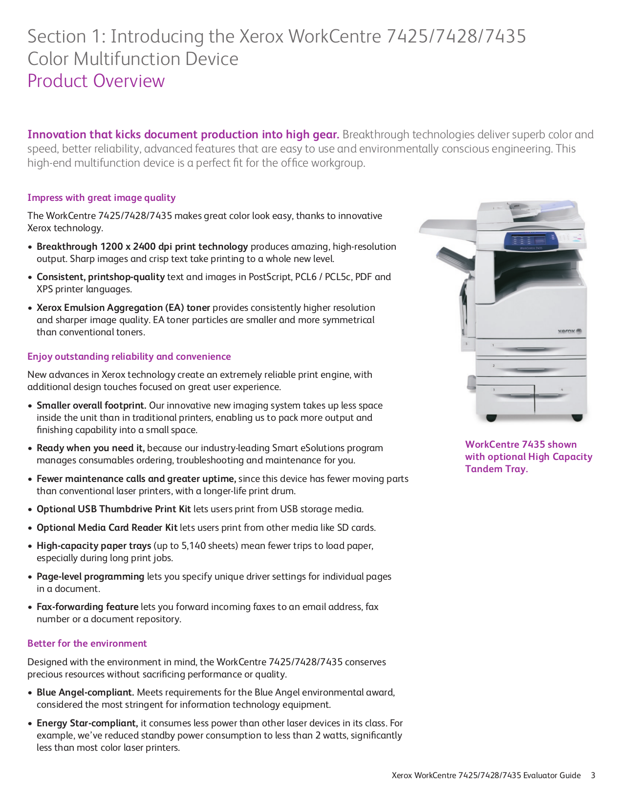 ... Xerox Multifunction Printer WorkCentre 7428 pdf page preview ...