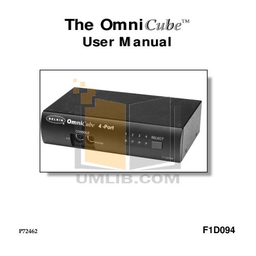 pdf for Belkin Switch F1D094 manual