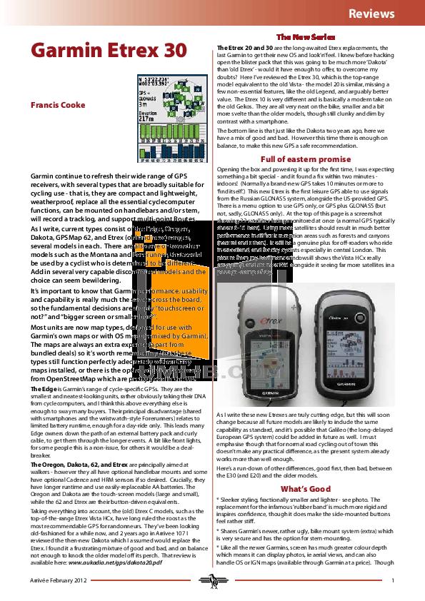 Garmin etrex vista hcx gps receiver manual.