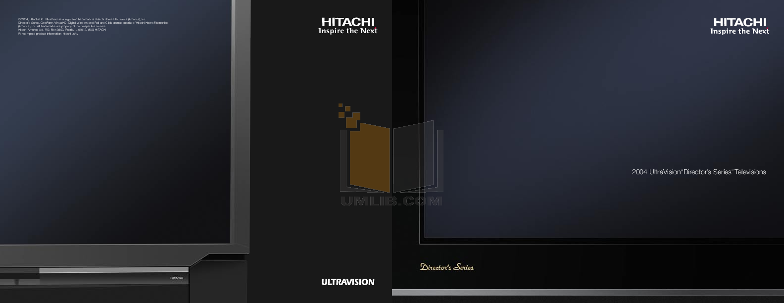 pdf for Hitachi TV 55HDX61 manual
