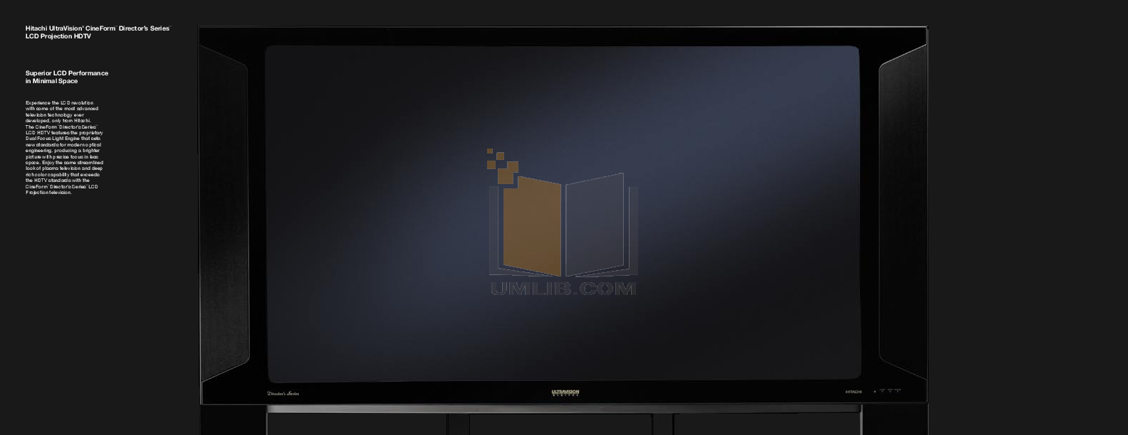 Hitachi TV 55HDX61 pdf page preview