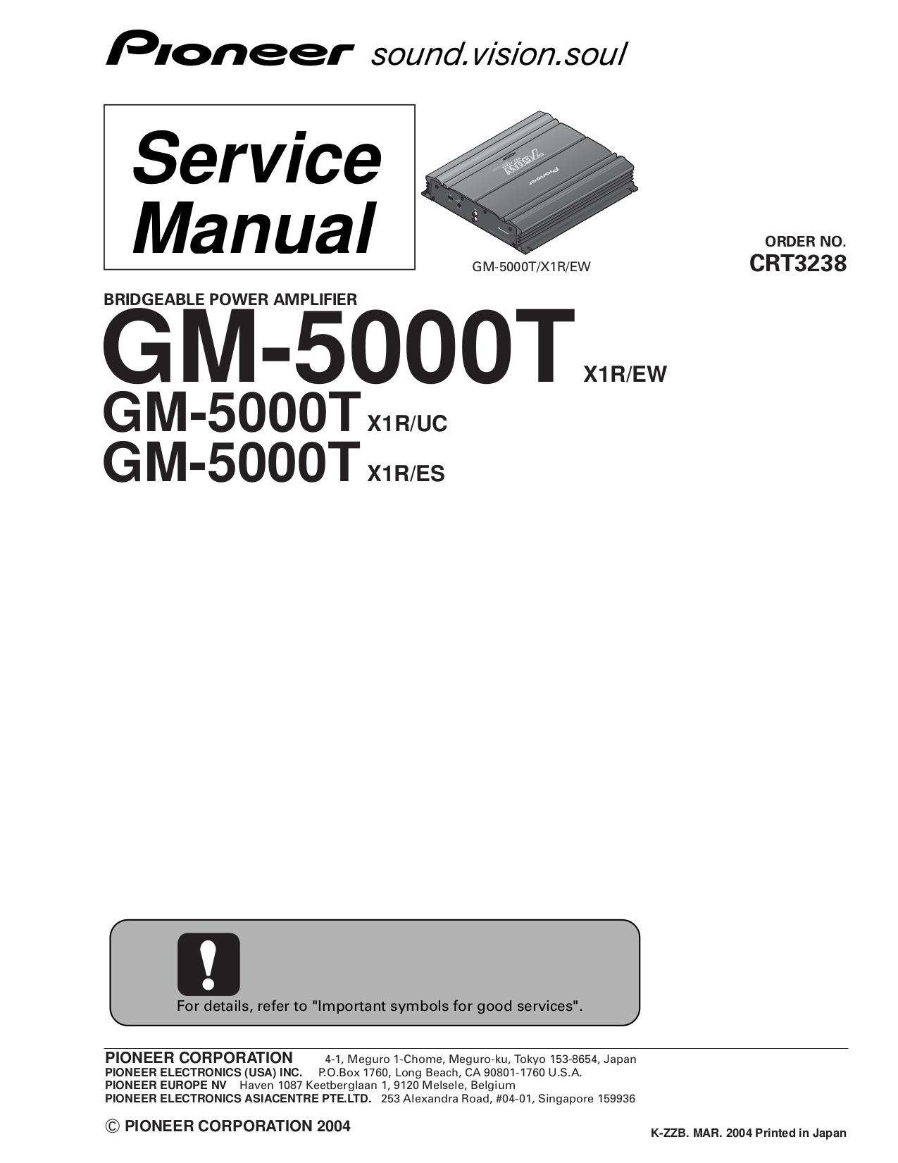download free pdf for pioneer gm 5000t car amplifier manual rh umlib com pioneer amplifier user manual pioneer amplifier vsx 521 manual