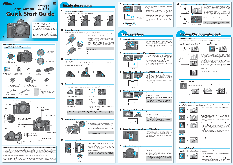 download free pdf for nikon d70 digital camera manual rh umlib com manual nikon d70 pdf español d70 nikon manual download