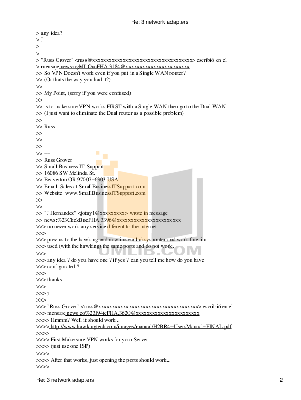 Hawking Router H2BR4 pdf page preview