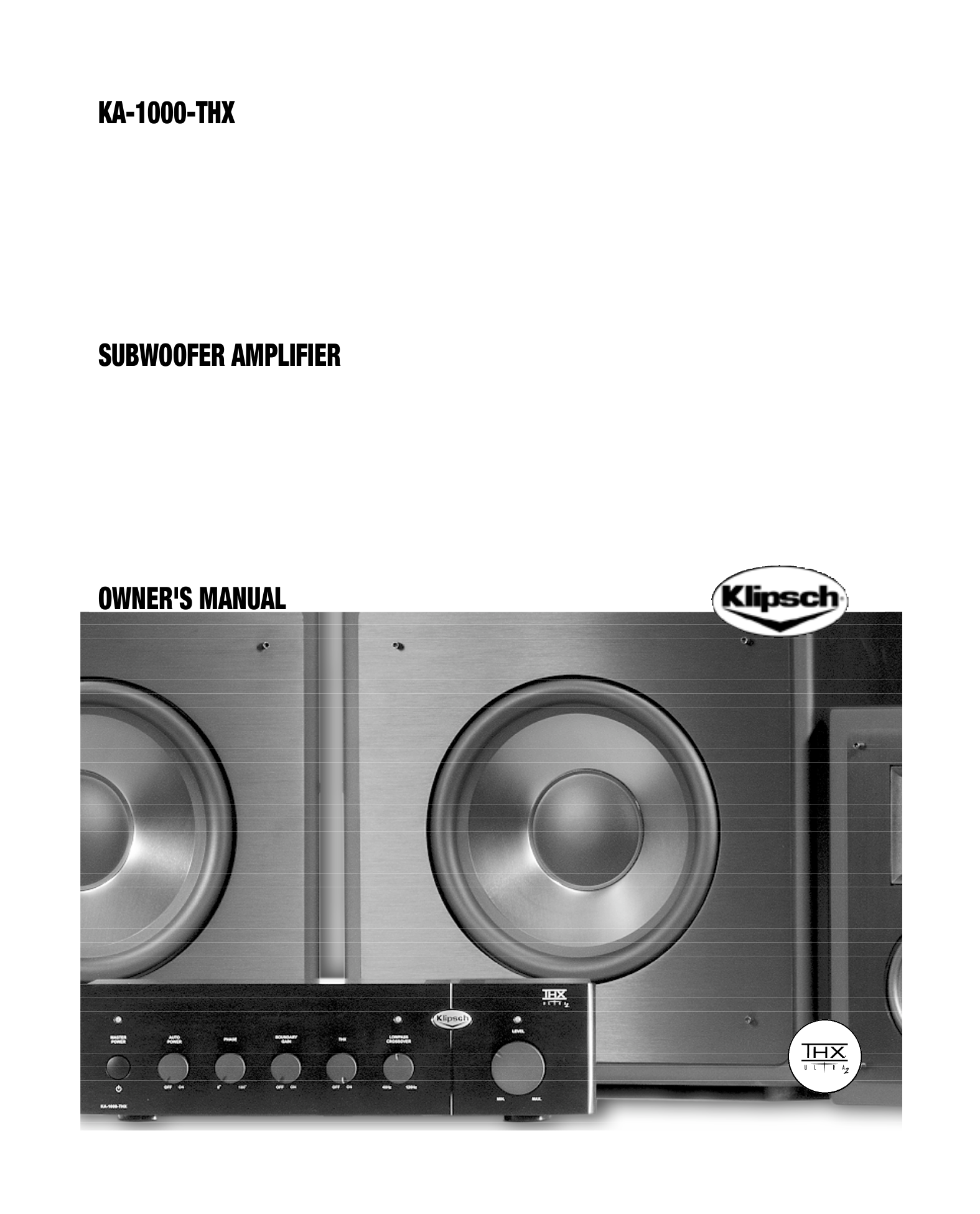 download free pdf for klipsch kw 120 thx subwoofer manual. Black Bedroom Furniture Sets. Home Design Ideas